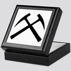 Crossed Rock Hammers Keepsake Box
